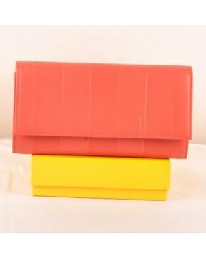 Fendi Red Soft Calfskin Leather Long Wallet