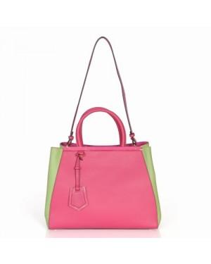 Fendi 2Jours Blue Canvas Top-handle Bag
