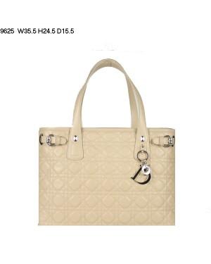 Dior Panarea Medium Shoulder Bag Apricot Lambskin Leather (Golden Hardware) 9625