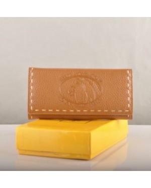 Fendi Earth Yellow Calfskin Leather Long Wallet