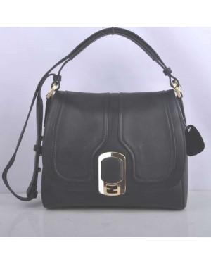 Fendi Black Original Leather Messenger Bag