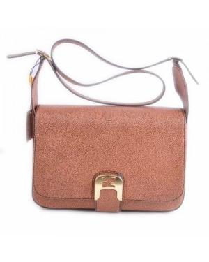 Fendi Chameleon Coffee Caviar Leather Medium Saddle Messenger Bag
