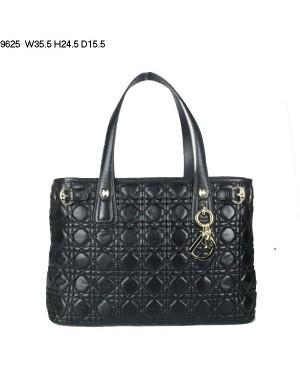Dior Panarea Medium Shoulder Bag Black Lambskin Leather (Golden Hardware) 9625