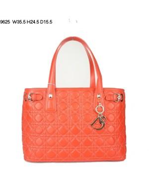 Dior Panarea Medium Shoulder Bag Orange Lambskin Leather (Golden Hardware) 9625