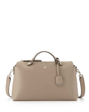 Fendi By The Way Large Satchel Bag Dove Gray