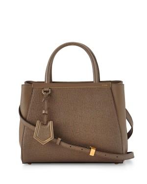 Fendi 2Jours Petite Shopping Tote Bag Brown