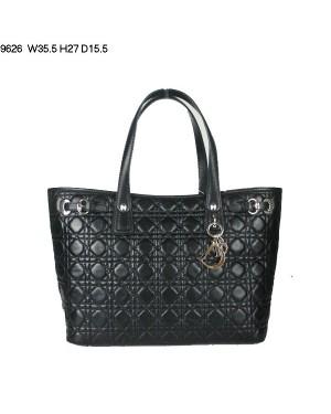 Dior Panarea Large Shoulder Bag Black Lambskin Leather (Golden Hardware) 9626