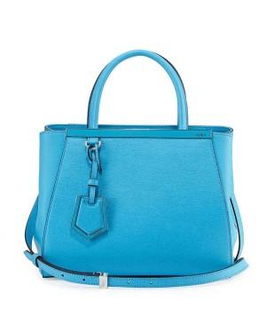 Fendi 2Jours Mini Shopping Tote Medium Blue