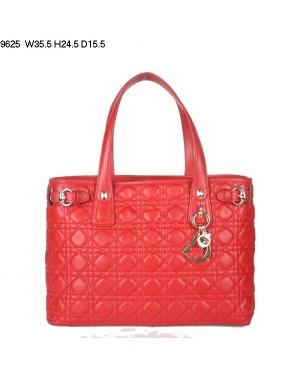 Dior Panarea Medium Shoulder Bag Red Lambskin Leather (Golden Hardware) 9625