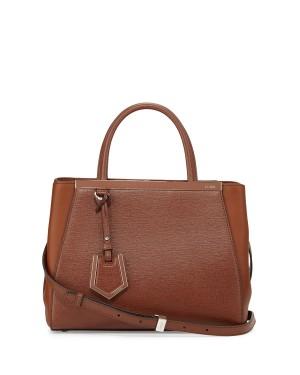 Fendi 2Jours Petite Tote Bag Walnut/Cognac