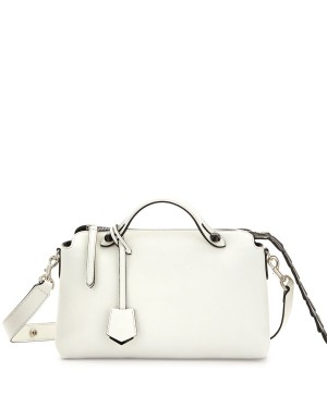 Fendi By The Way Small Croc Satchel White