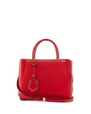 Fendi 2Jours Mini Shopping Tote Red
