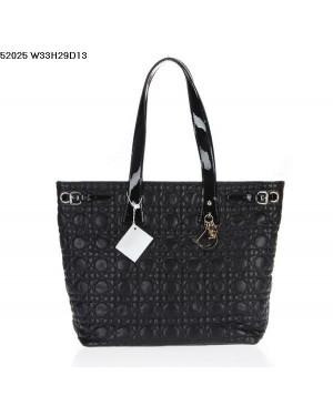 Dior Panarea Shoulder Bag Black Lambskin Leather (Golden Hardware) 9626