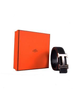 Hermes calf leather men H belt 138 gold/silver/black