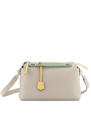 Fendi By The Way Large Satchel Bag Gray